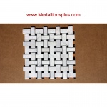 Carrera Marble Basket Weave Polished Mosaic Tiles